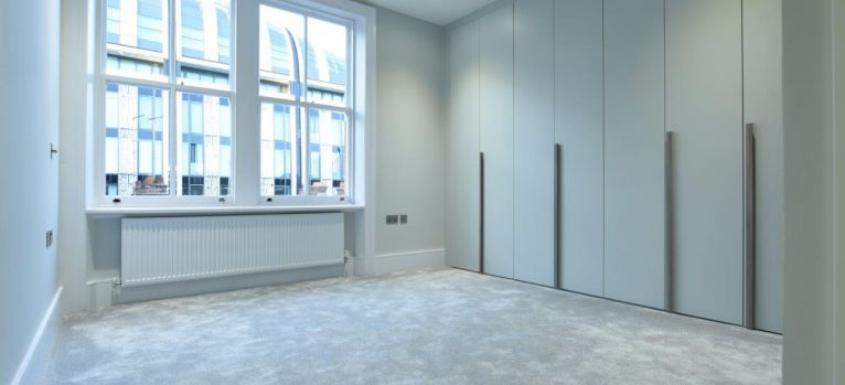 Bedroom interior with bespoke joinery