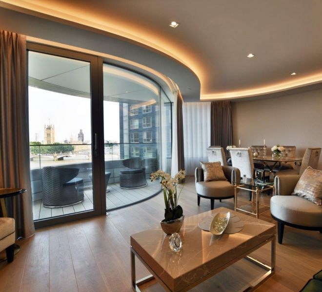 Living room design in The Cornich Lambeth