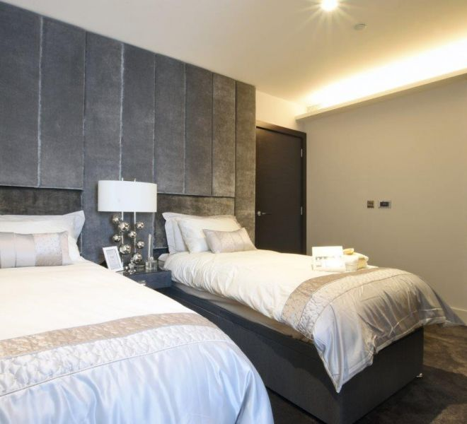 The Corniche in Lambeth twin bedroom