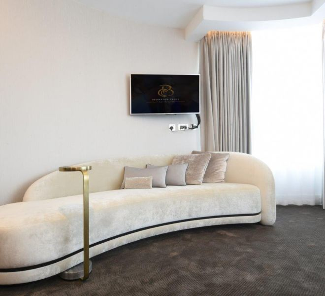 Chaise lounge in luxury bedroom