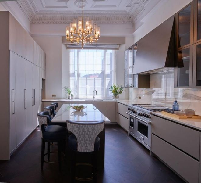Kensington high end kitchen interior design Brompton Cross Construction