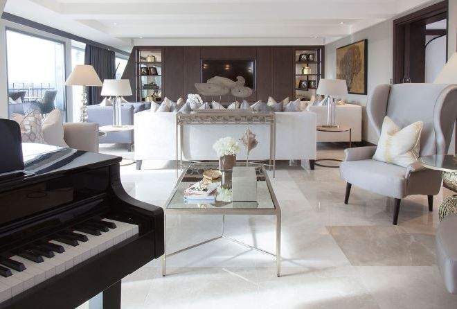 Luxury Paris Penthouse Living room Renovation and Interior Design turn key property