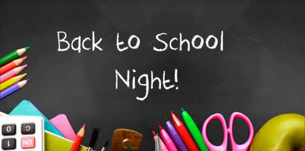 It's Time for Back-to-School Night! Sept. 12th, 13th and 25th…