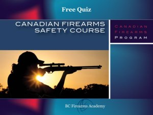 Free Canadian Firearms Safety Course Quiz Non-restricted