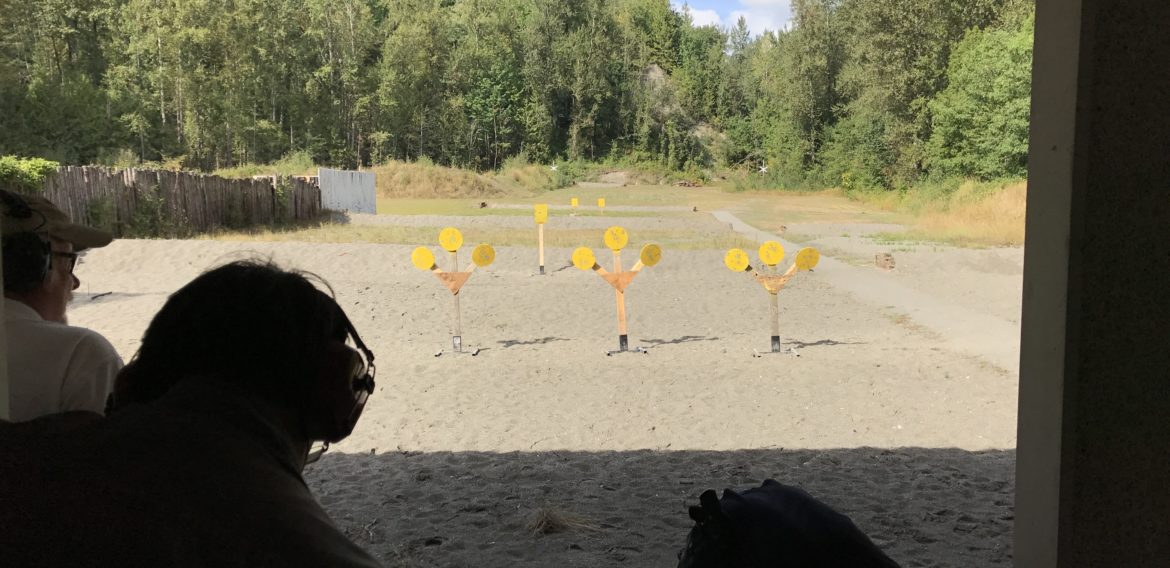Perfect October weather for getting out to the range BC Firearms Academy