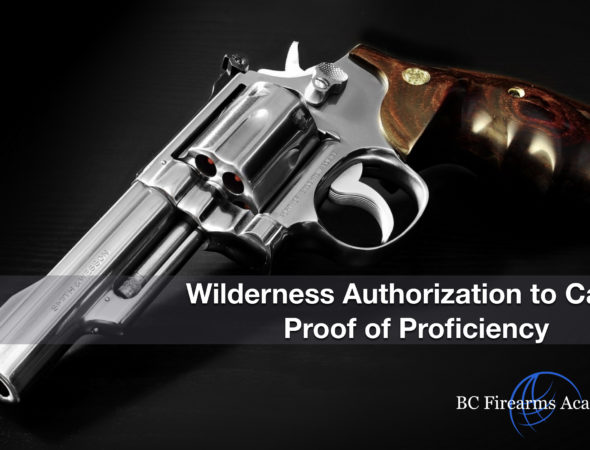 WATC Wilderness Authorization to Carry Proof of Proficiency Sep 28