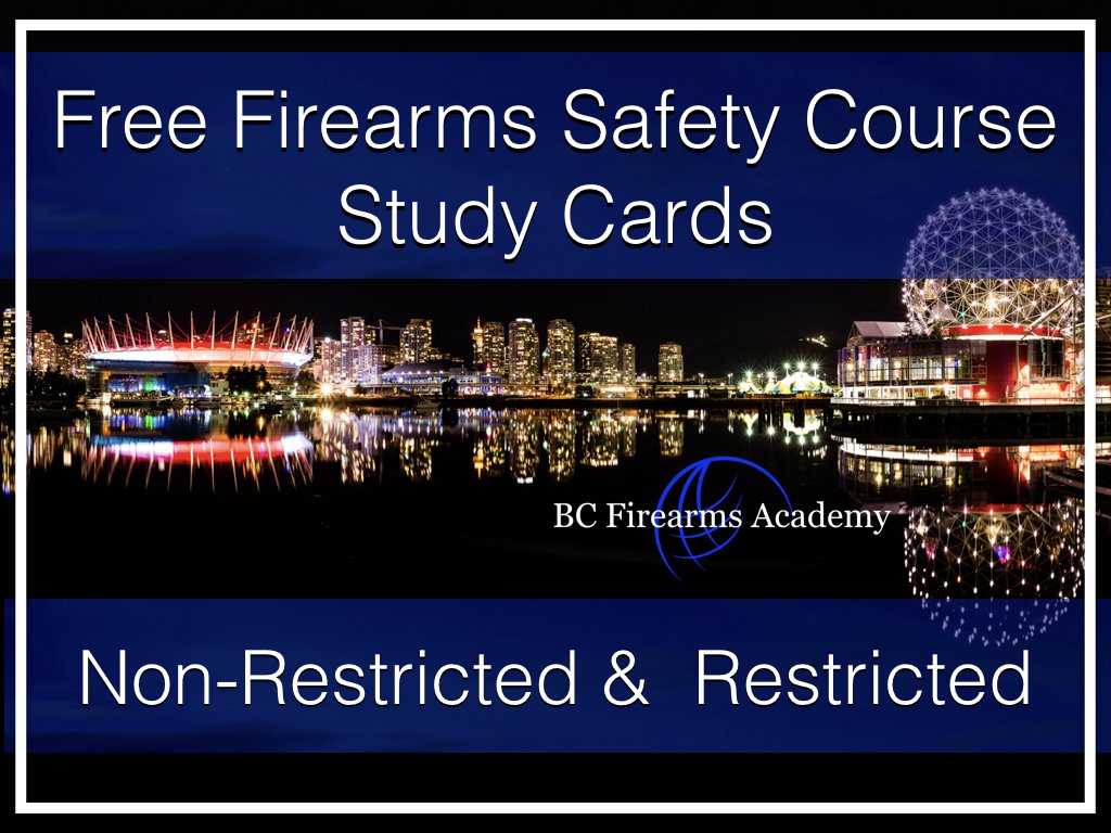 Free Firearms Course Training Material – CFSC & CRFSC