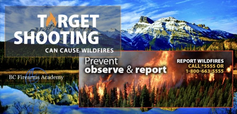 BC Wildfire Service Notice to Targets Shooters June 20, 2018