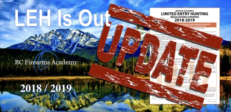 The 2018 / 2019 BC Limited Entry Hunting results are out!