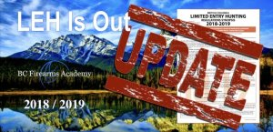 The 2018 / 2019 BC Limited Entry Hunting results are out! To check your results sign in at: