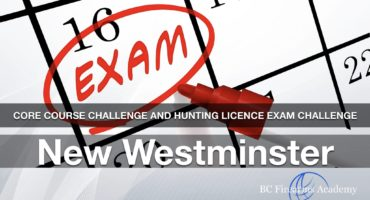 CORE Course Challenge and Hunting Licence Exam Challenge JIBC Jan 6