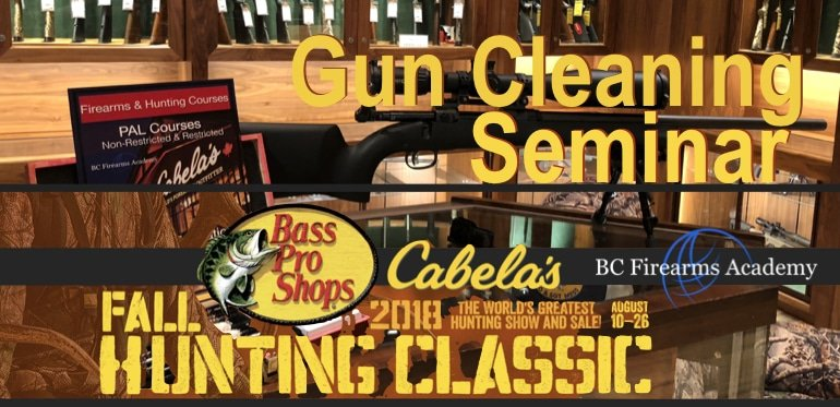 Gun Cleaning Lecture at the Abbotsford Cabelas provided by BC Firearms Academy during Fall Hunting Classic