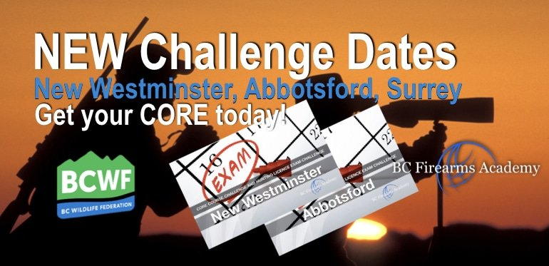 NEW CORE Challenge Dates Available in New Westminster, Abbotsford, Surrey Hunting Tests