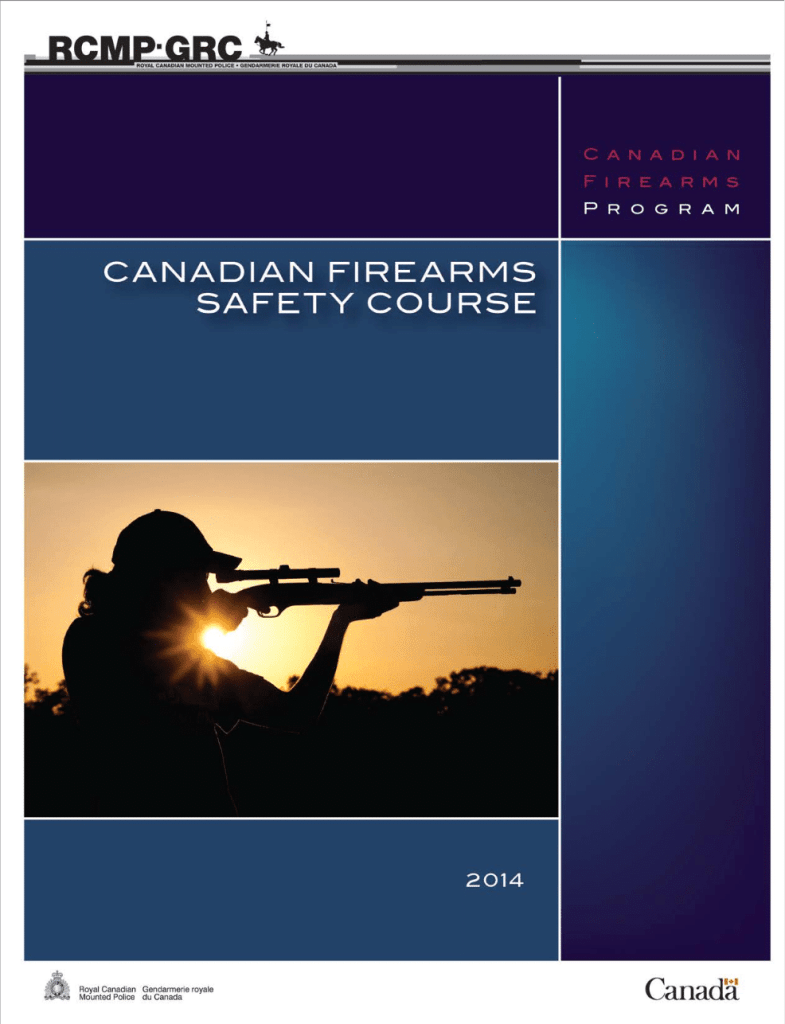 Canadian Firearms Safety PAL Course Student Handbook Free CFSC CRFSC book