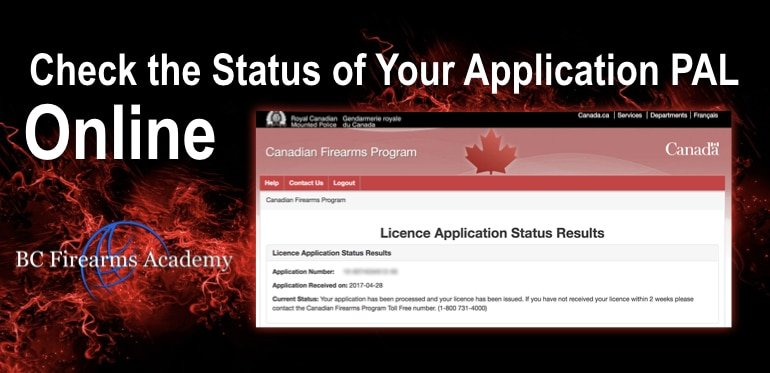 Check the Status of Your Application PAL / RPAL Online