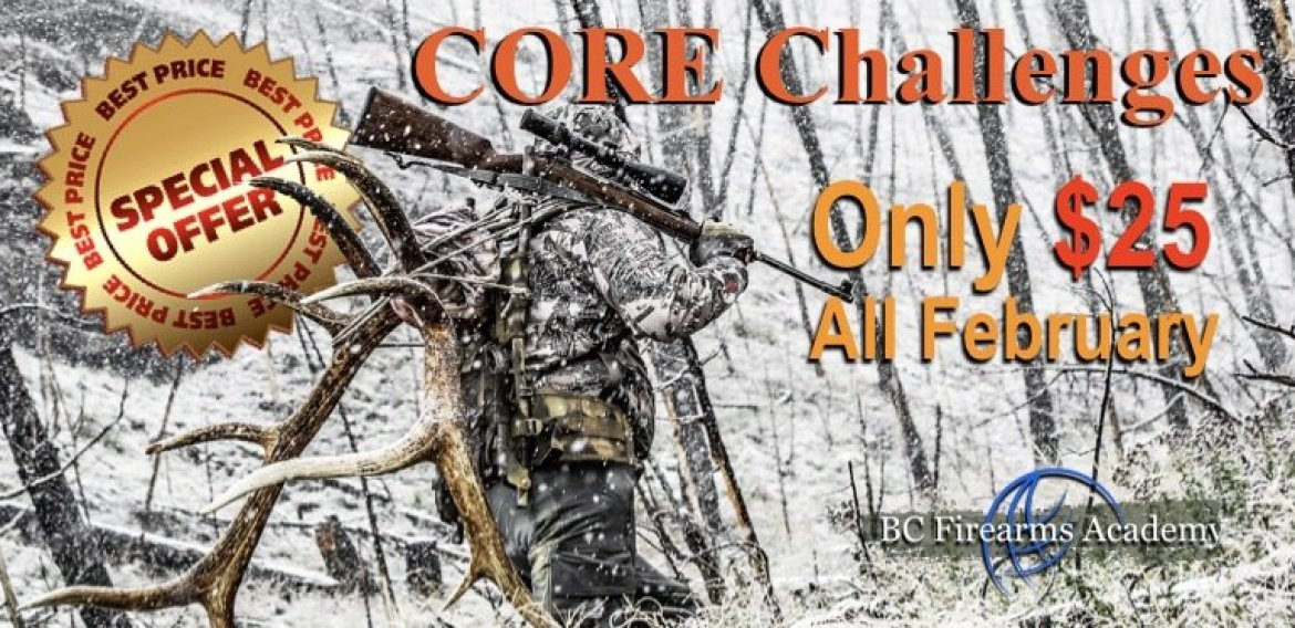 Discounts on CORE Hunter Challenge Exams for February! Only $25