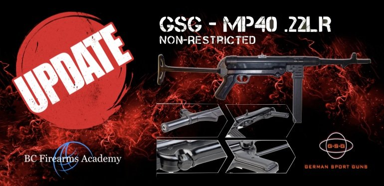 GSG MP-40 .22lr NON-RESTRICTED Update January 2019