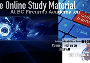 Online Study Material is FREE with BC Firearms Academy
