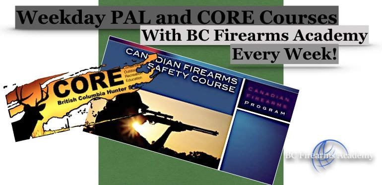 Weekday PAL Courses with BC Firearms Academy!