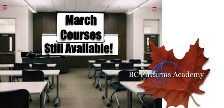 March 2019 Courses Still Available at BC Firearms Academy