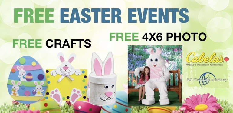 Free Easter Events at Cabela's Abbotsford 2019