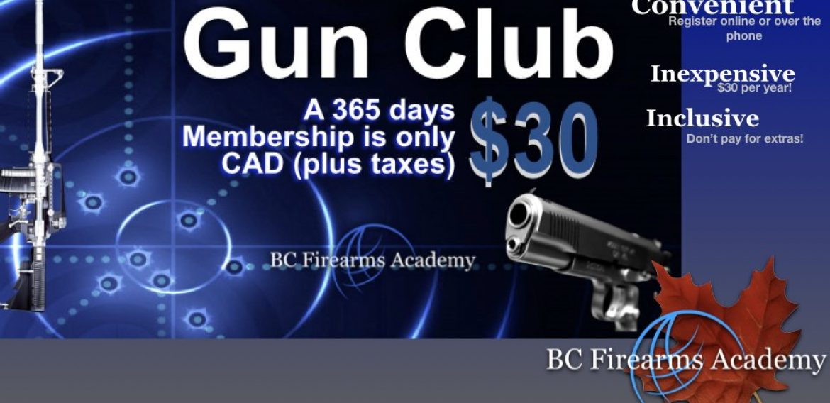 BC Firearms Academy Gun Club – JOIN TODAY!