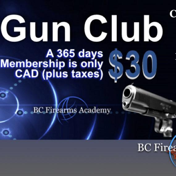 BC Firearms Academy Gun Club – JOIN TODAY!