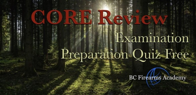 Hunting Review CORE Examination Preparation Quiz Free