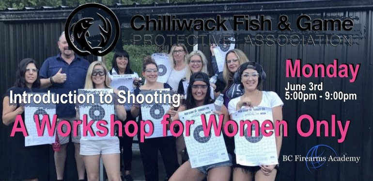 INTRODUCTION TO SHOOTING A WORKSHOP FOR WOMEN 2019