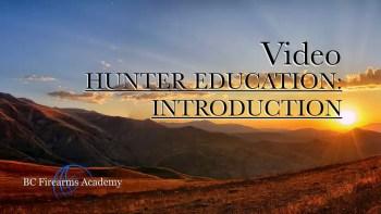 Hunter Education: Introduction