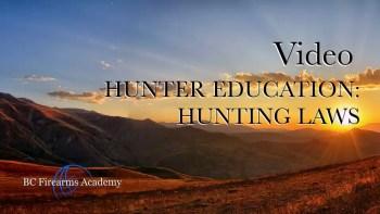 Hunter Education: Hunting Laws