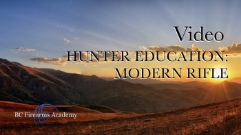 Hunter Education: Modern Rifle
