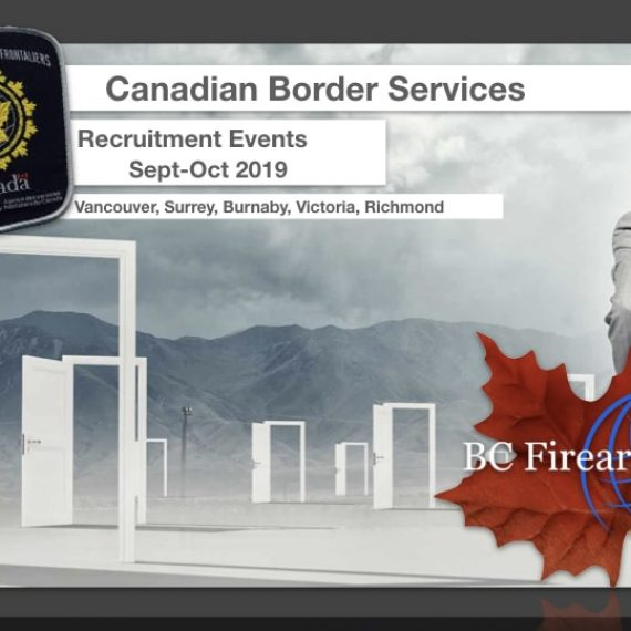 Canadian Border Services Lower Mainland Recruiting Events