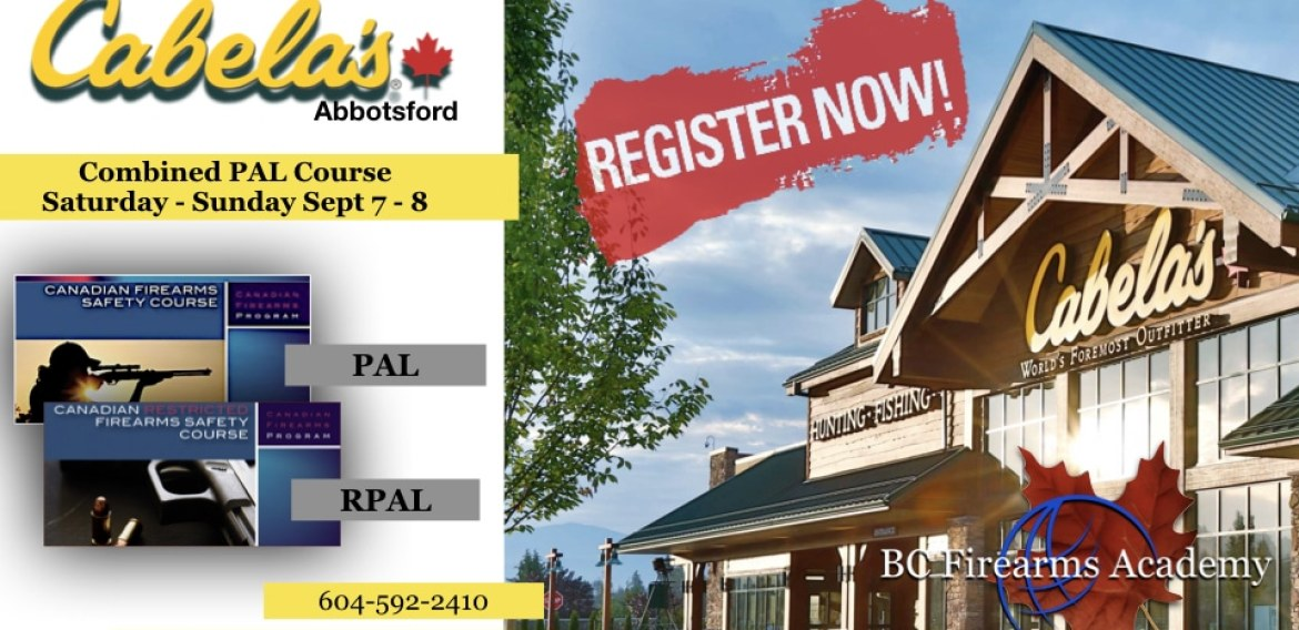 Still Room This Weekend, Sept 7 – 8 at Cabela's Abbotsford!