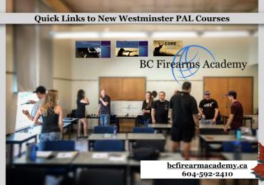 New Westminster, Tri-Cities PAL Courses: Quick Links