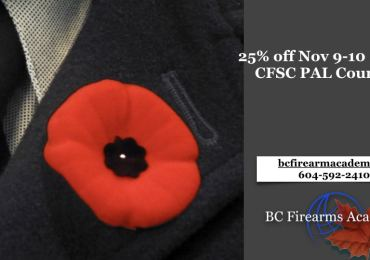 25% Discount on Remembrance Day Weekend PAL