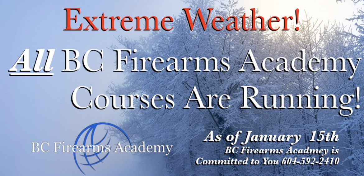 All BC Firearms Academy Courses Are Running! January 15th 2020