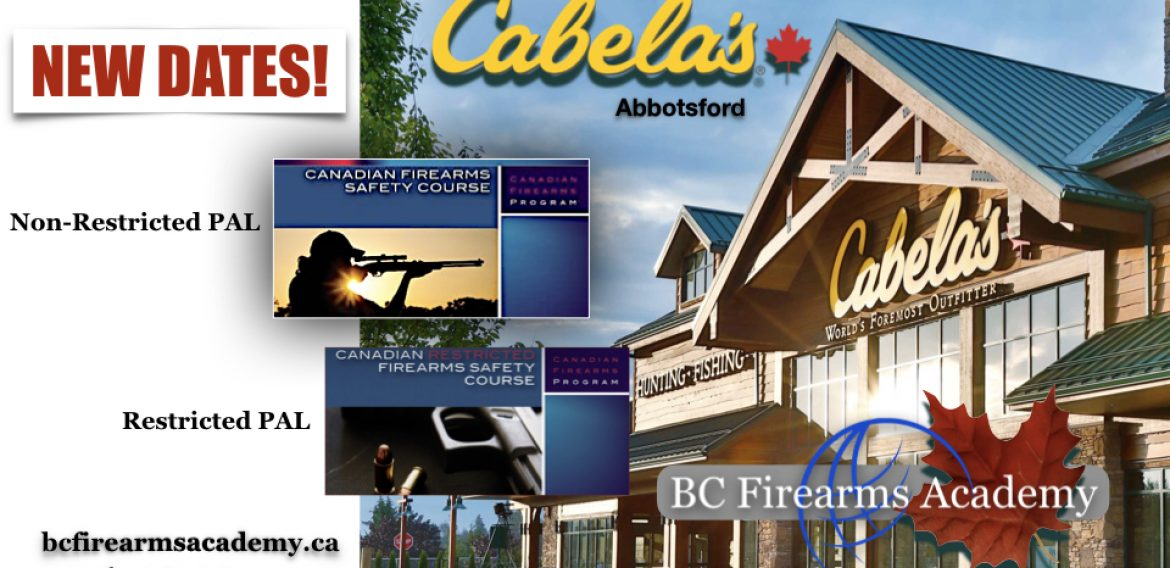 Non-Restricted and Restricted PAL Classes at Cabela's Abbotsford