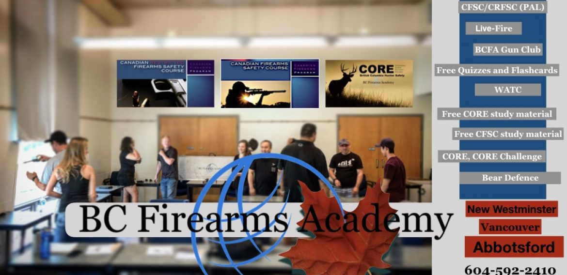Join BC Firearms Academy for CORE Hunter Education