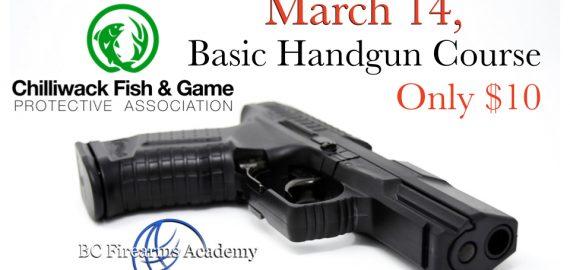 Basic Handgun Familiarization Course at the CFGPA $10