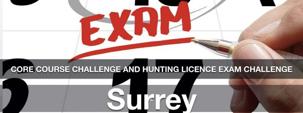 CORE Hunting License Exam Challenge: Surrey Friday Oct 30