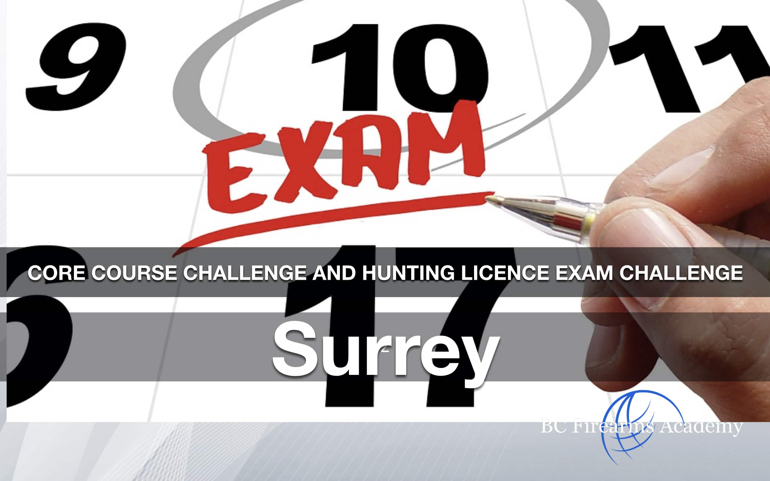 CORE Hunting License Exam Challenge: Surrey Friday Oct 16