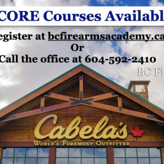 PAL and CORE Courses are BACK at Cabela's Abbotsford!