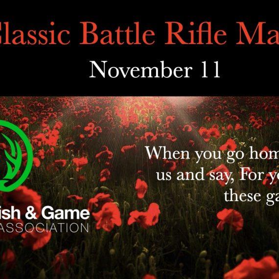 Fall Classic Battle Rifle Match Nov 11 2020