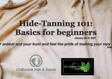 join bc firearms academy's Hide-tanning course, january 30-31 2021