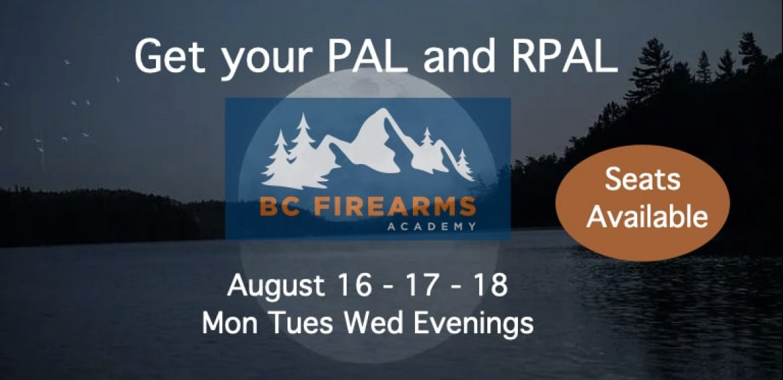Evening PAL/RPAL Course Surrey Aug 16-17-18