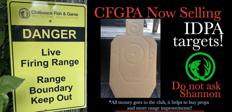 CFGPA Now Selling IDPA Targets
