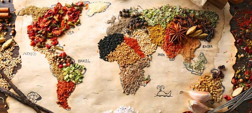 来自世界各地的香料