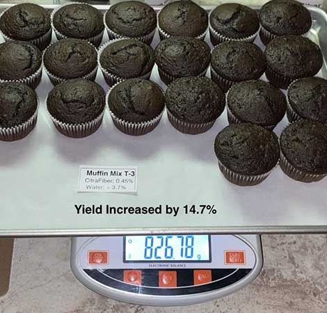 CitraFiber muffins - higher yeild