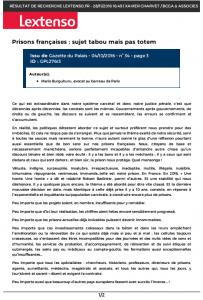 Prisons françaises : sujet tabou mais pas totem